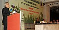 Pranab Mukherjee addressing the 41st Session of International Sugar Organisation (ISO), in New Delhi. The Minister of State (Independent Charge) for Consumer Affairs, Food and Public Distribution.jpg