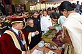Pranab Mukherjee visiting Innovation Exhibition after the inauguration on the occasion of the 14th Convocation of Manipur University, at Canchipur, in Imphal, Manipur. The Governor of Manipur.jpg