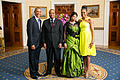 President Barack Obama and First Lady Michelle Obama greet His Majesty King Mswati III, Kingdom of Swaziland, and Her Royal Highness Queen Inkhosikati La Mbikiza.jpg