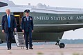 President Donald J. Trump and First Lady Melania Trump arrive at Joint Base Andrews Air Force Base (47993779482).jpg
