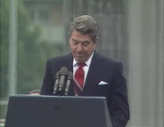 Tear down this wall! speech by US president Ronald Reagan