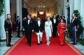 President Ronald Reagan and Nancy Reagan with Birendra Bir Kikram Shah Dev and Aishwarya Rajya Laxmi Devi Shah of Nepal.jpg