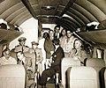 President Roosevelt returning in a plane from Casablanca surrender conferences, 1943 (25038801511).jpg