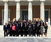 Prime Minister George Papandreou with full cabinet 2009Oct07.jpg