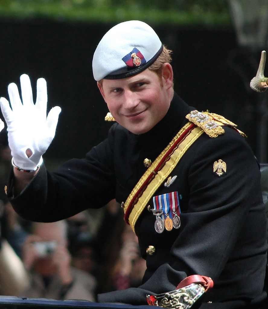File:Prince Harry Trooping The Colour Cropped.JPG