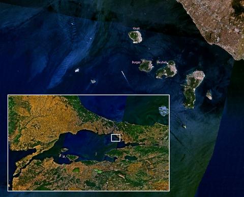 Adalar'ın Marmara Bölgesi'ndeki konumu