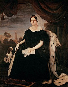Princess Maria Antonietta of the Two Sicilies, Grand Duchess of Tuscany, by Giuseppe Bezzuoli.jpg