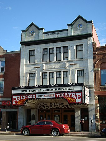 Opened in 1915, the Princess Theatre is the oldest cinema in the city. Princess theatre edmonton.JPG