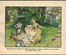 Prinzessin Luise und ihre Schwester Friederike als Kinder auf Schloss Broich (Quelle: Wikimedia)