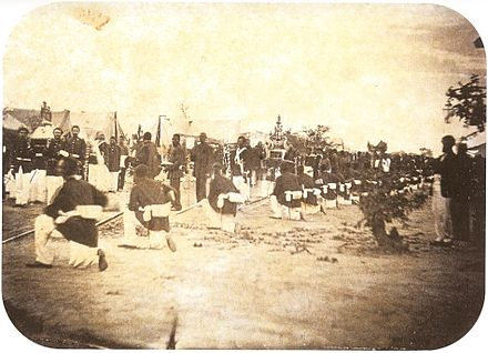 The Imperial Brazilian Army during a procession in Paraguay, 1868 Procession in Paraguay 1868.jpg