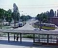 Pulz utca, az 1-es villamos végállomása a Szeged-Rókus vasútállomásnál, háttérben a Kossuth Lajos sugárút. Fortepan 99423.jpg