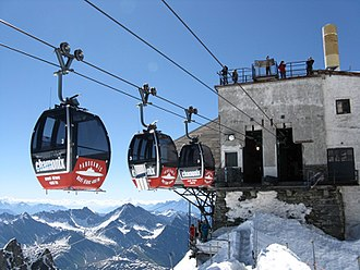 Vallée Blanche Cable Car - Image: Punta helbronner 1