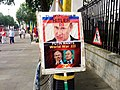 Putin-Hitler signage 3, Ukraine protest, Whitehall, London, UK (14327148964).jpg