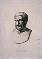 Pythagoras. Line engraving by B. Barloccini after C. C. Perk Wellcome V0004820.jpg