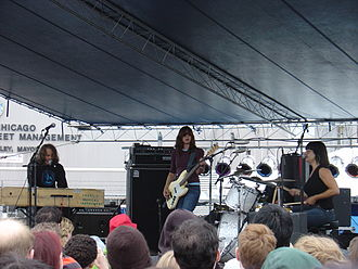 Quasi - Quasi on stage in Chicago with Joanna Bolme in 2006.