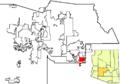 Queen Creek in Maricopa County map.png