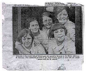 Queenwood School for Girls - The first five students enrolled at Queenwood, 1925