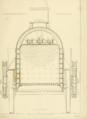 R. and W. Hawthorn 2-2-2 locomotive No. 224 Paris and Versailles Railway 1838 rear elevation cutaway through firebox.png