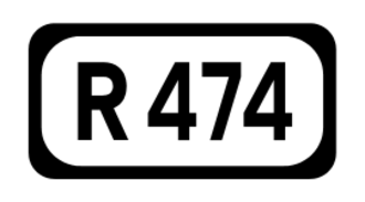 R460 road (Ireland) - Image: R474 Regional Route Shield Ireland