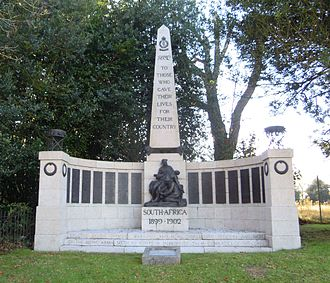 Royal Army Medical Corps - The RAMC Memorial for the Boer War at Aldershot in Hampshire