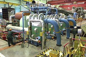 Kalinin Nuclear Power Plant - No.2 generating unit's turbine room