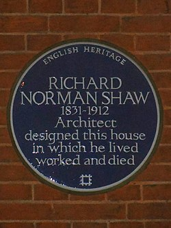 Photo of Richard Norman Shaw blue plaque