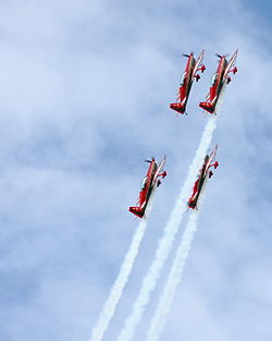 ef4c1ca3b34be3 The Royal Jordanian Falcons ascending in formation. The Royal International  Air Tattoo