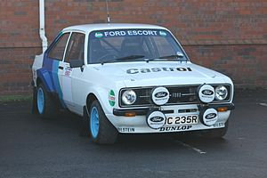 Ford World Rally Team - A Ford Escort RS in 1979 Ford Motorsport colours at the 2014 Race Retro show