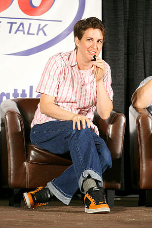 English: Rachel Maddow in Seattle.