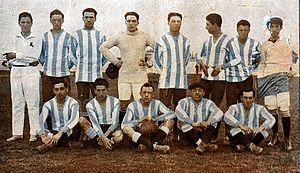 Racing Club de Avellaneda - The 1913 team that won four titles in a year, including its first Primera División championship.