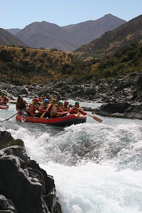 Rafting på Rangitaka River.