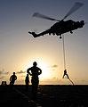 Rapid Roping on HMS Bulwark MOD 45150172.jpg
