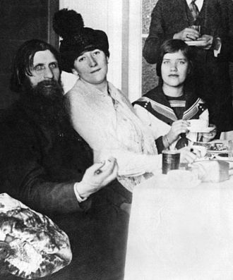 Maria Rasputin - Maria Rasputina, right, with her father and mother in March 1911.