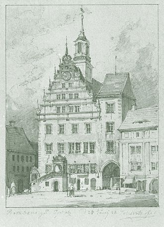 Oschatz - Oschatz Town Hall 1838