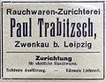Rauchwaren-Zurichterei Paul Trabitzsch, Zwenkau bei Leipzig (Anzeige 1922).jpg