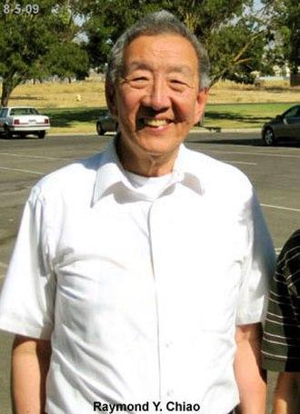 Raymond Chiao - Raymond Chiao outside his UC Merced Lab