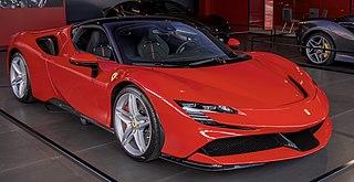 Ferrari SF90 Stradale Mid-engine hybrid sports car manufactured by Italian automobile manufacturer Ferrari