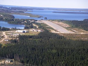 Red Sucker Lake, Manitoba - A view of part of the community and airport