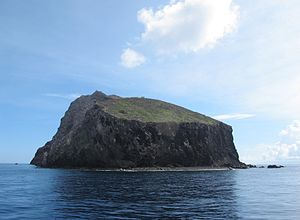 Kingdom of Redonda - A view of the small island of Redonda from the southeast in 2012