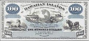 Billete de cien dólares hawaianos