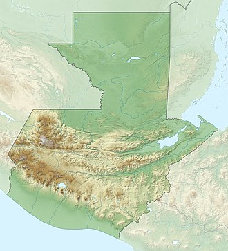 Puerto Barrios - Image: Relief map of Guatemala