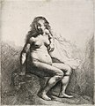 Rembrandt Naked Woman Seated on a Mound 1631.jpg