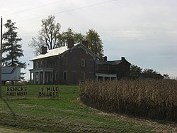 The Renick Farmhouse, a historic site in the township