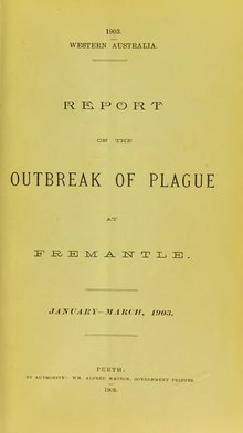 Report on the outbreak of plague at Fremantle.djvu