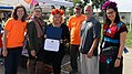Representative Julia Brownley's Office presents Dia de los Muertos event coordinators with recognition award for their efforts to connecting children with nature. (30591505216).jpg