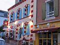 Restaurant Le Petit Baigneur, on Rampe des Glycines, Sauzon, Brittany, France 03.jpg