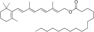 Retinyl palmitate chemical compound