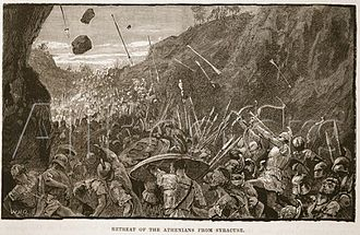 Sicilian Expedition - Retreat of the Athenians from Syracuse.