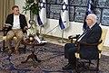 Reuven Rivlin being interviewed by Uri Yitzhaki from Shavvim website, December 2020 (GPOMN1 1508).jpg