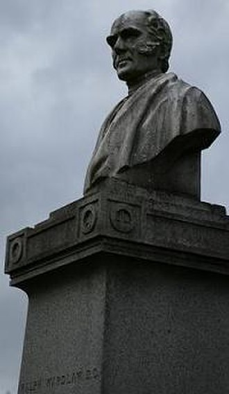 Ralph Wardlaw - The statue of Wardlaw at his grave in the Glasgow Necropolis, overlooking the city's cathedral.